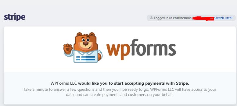 connect wordpress wpforms to stripe