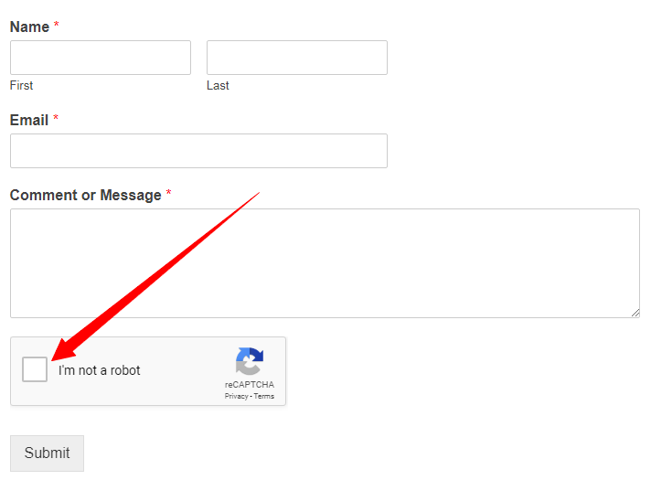 recaptcha activated on forms