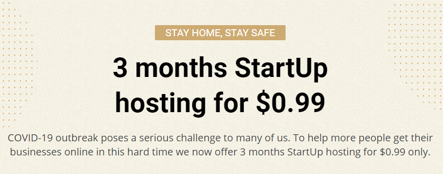 covid-19 stay home web hosting offer
