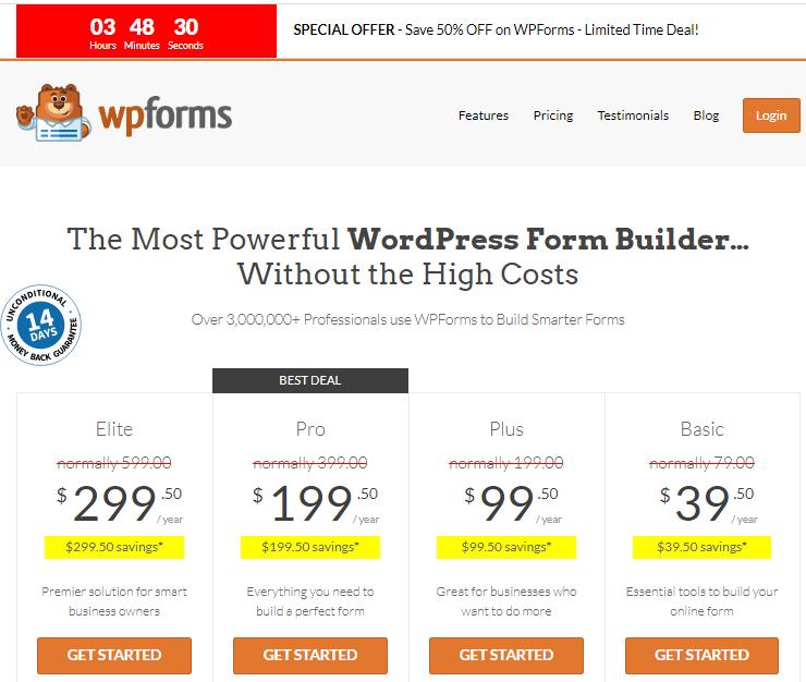 wpforms promotion