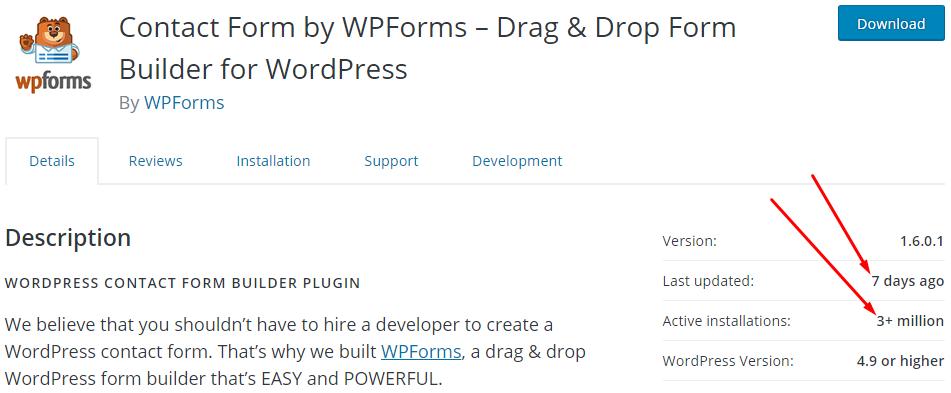 wpforms usage