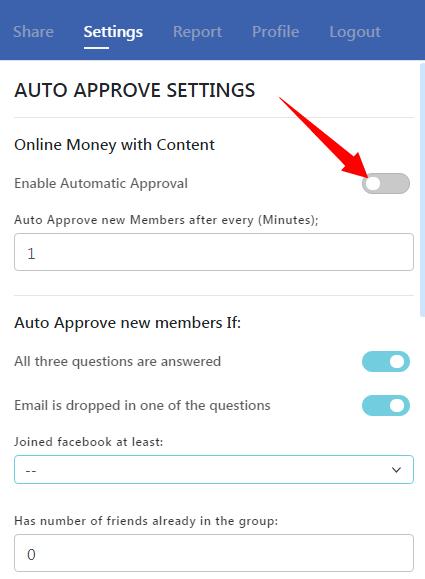 autoapprove members