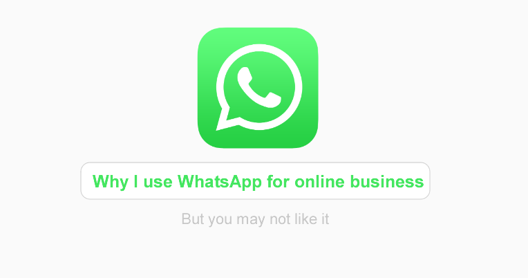 whatsapp for online business