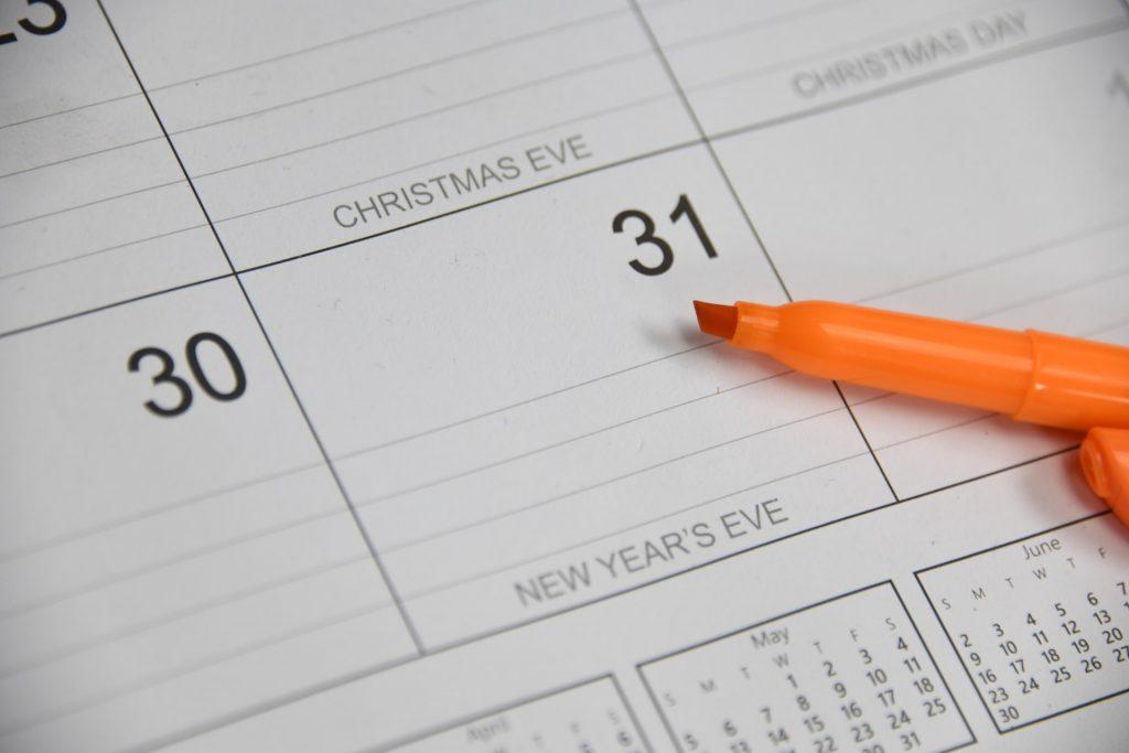 Calendar up close