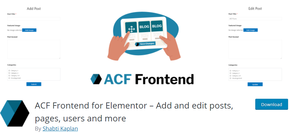 ACF Frontend for Elementor