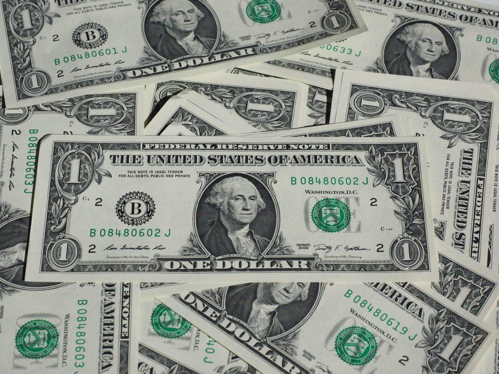 Big pile of dollar bills