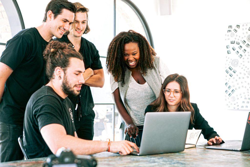 Marketing team at work