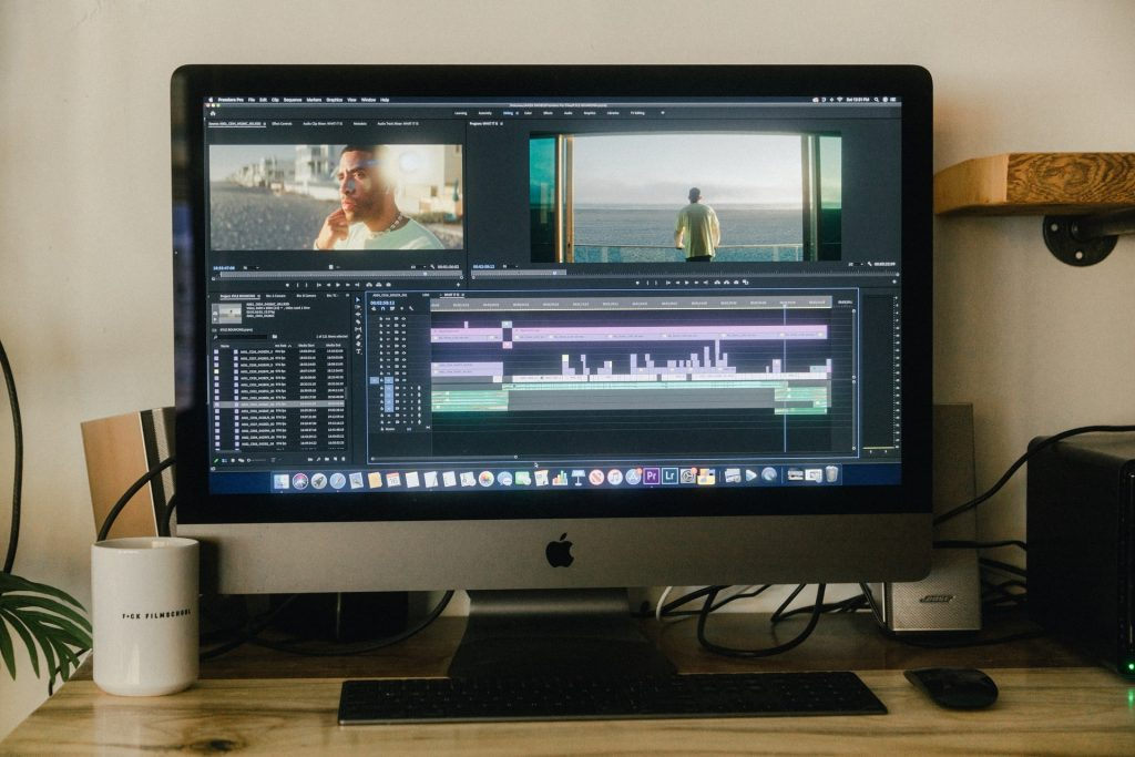Video editor open on Mac