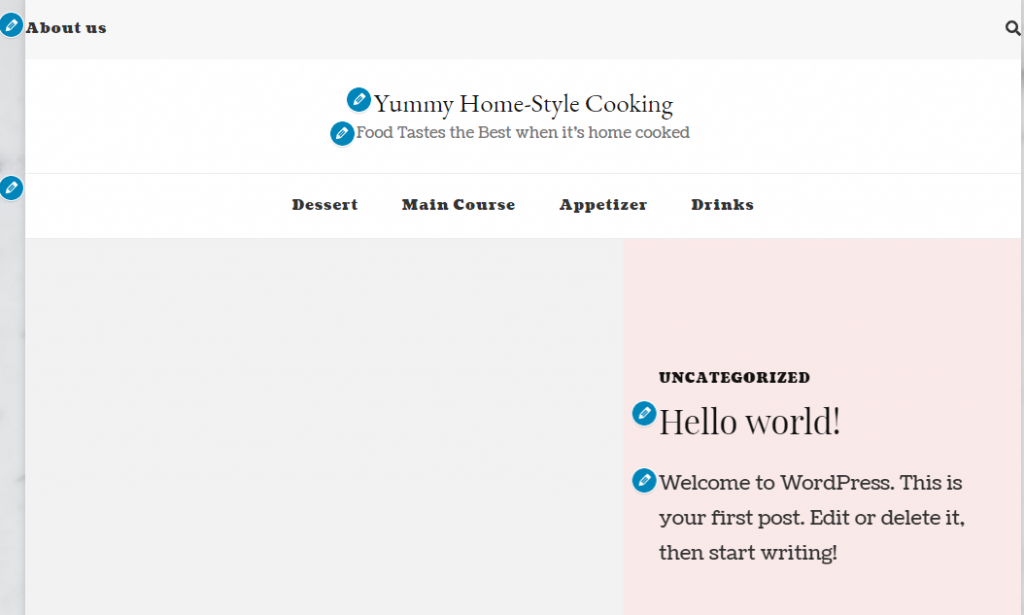 Yummy Recipe Theme second preview
