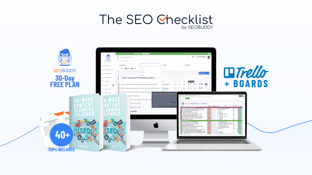 SEO Checklist by SEOBUDDY banner