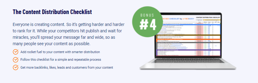 The SEO Checklist Content Distribution Checklist