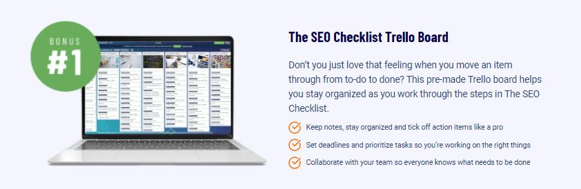 The SEO Checklist Trello Board