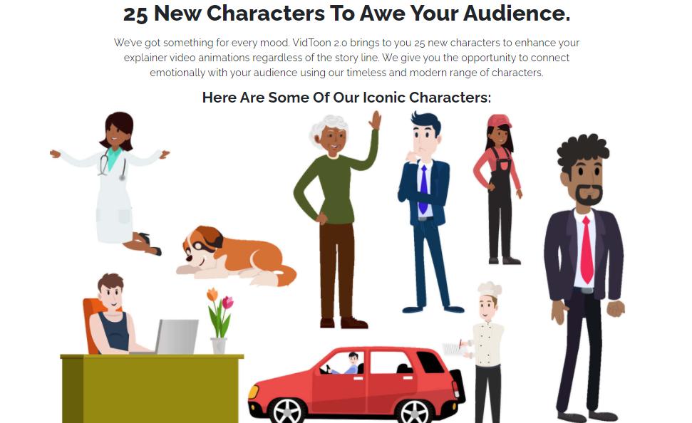 Vidtoon 2 characters