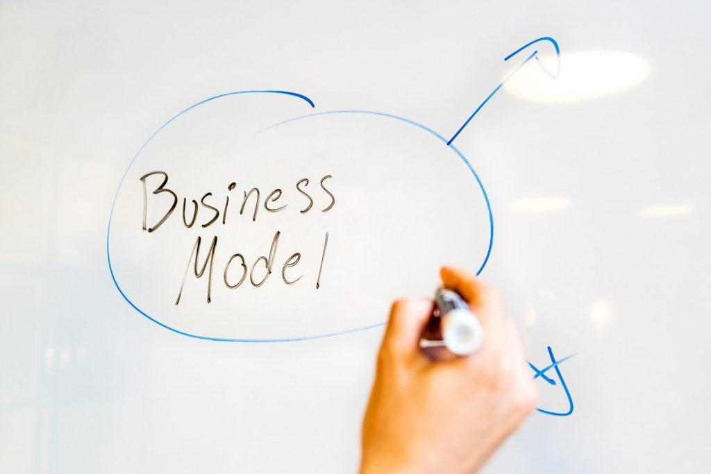 Business plan on whiteboard
