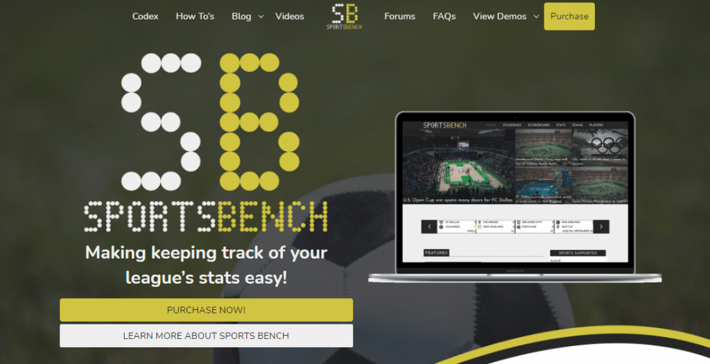 Sports Bench WordPress Plugin