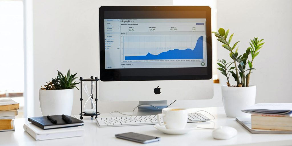 Analytics on white screen