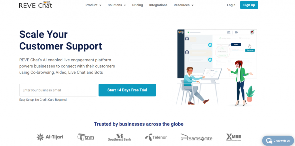 REVE Chat homepage