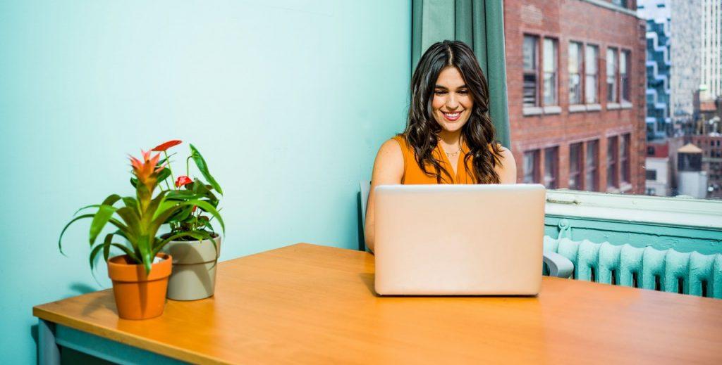 Woman in an office