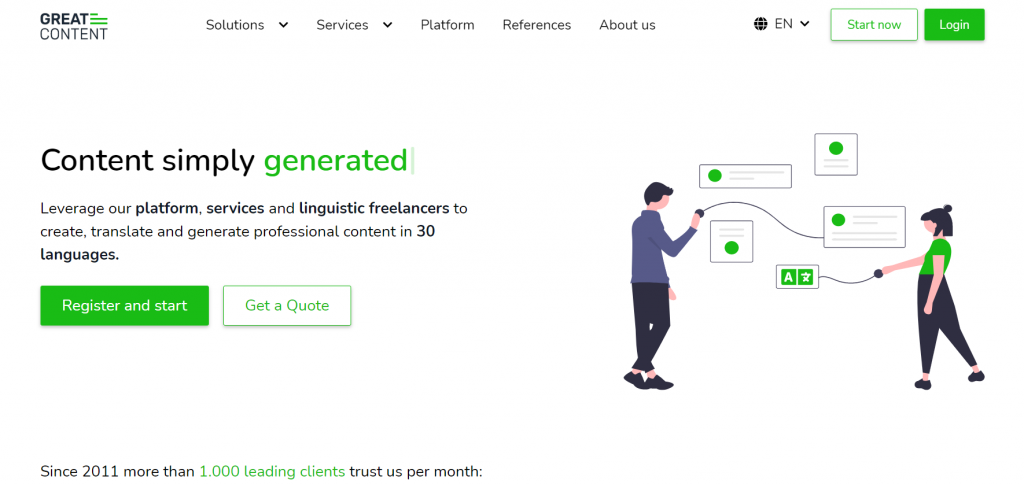 Greatcontent homepage