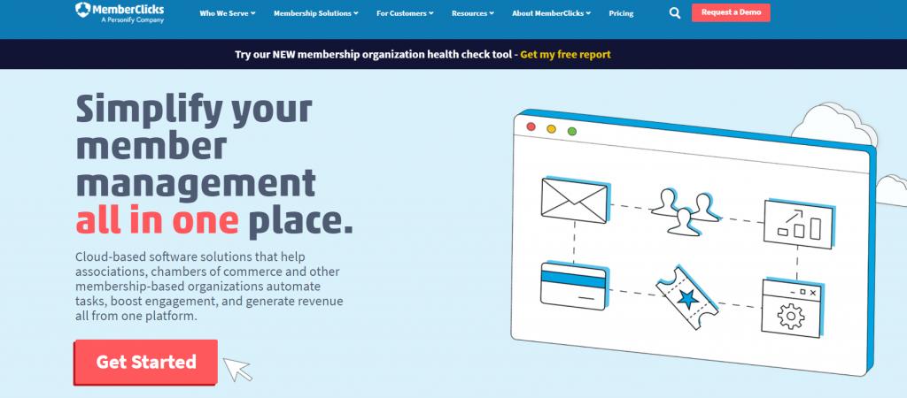 MemberClick homepage