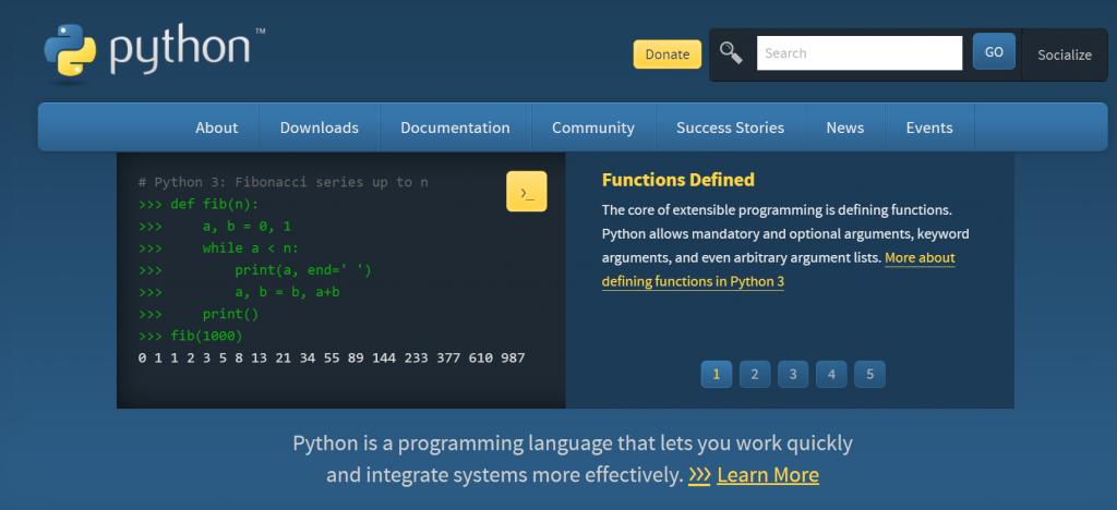 Python homepage