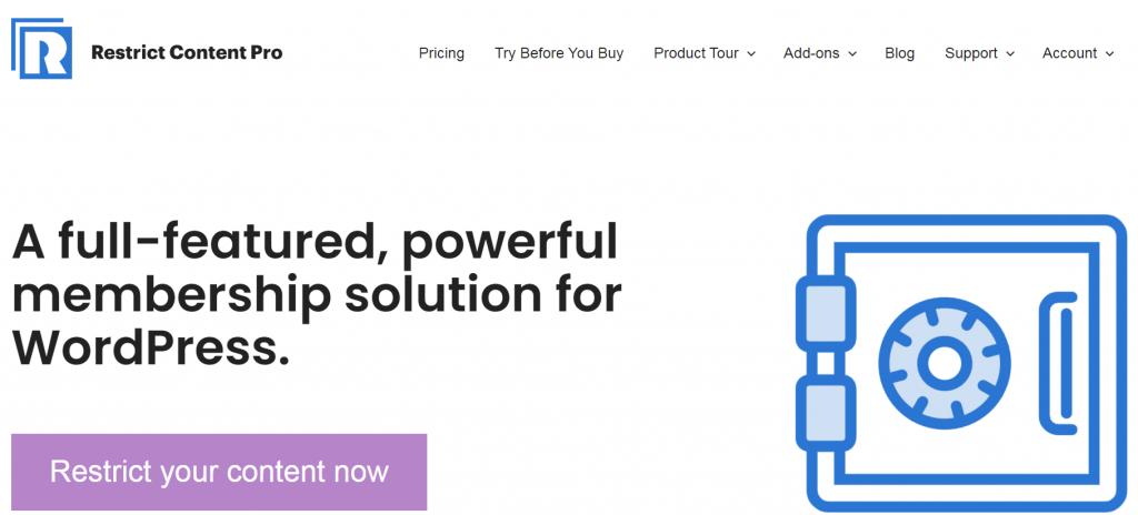 Restrich Content Pro homepage