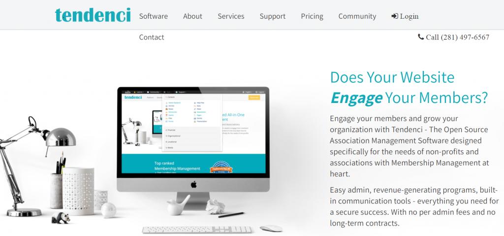 Tendenci homepage