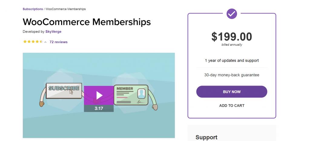WooCommerce Memberships website