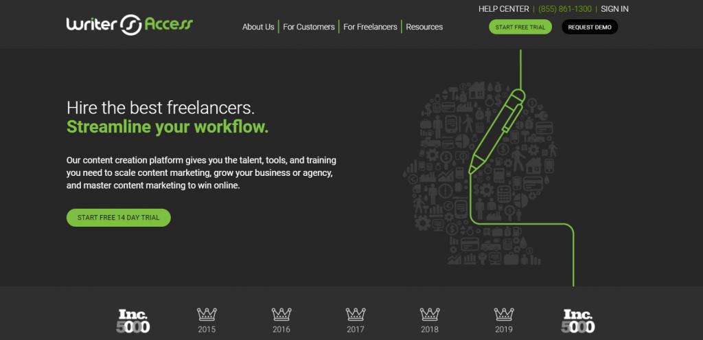 WriterAccess homepage