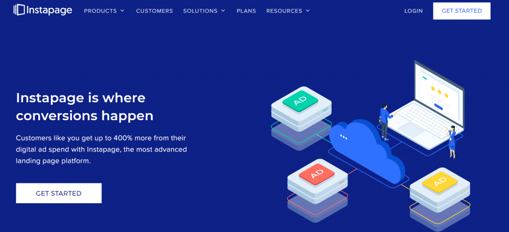 Instapage homepage