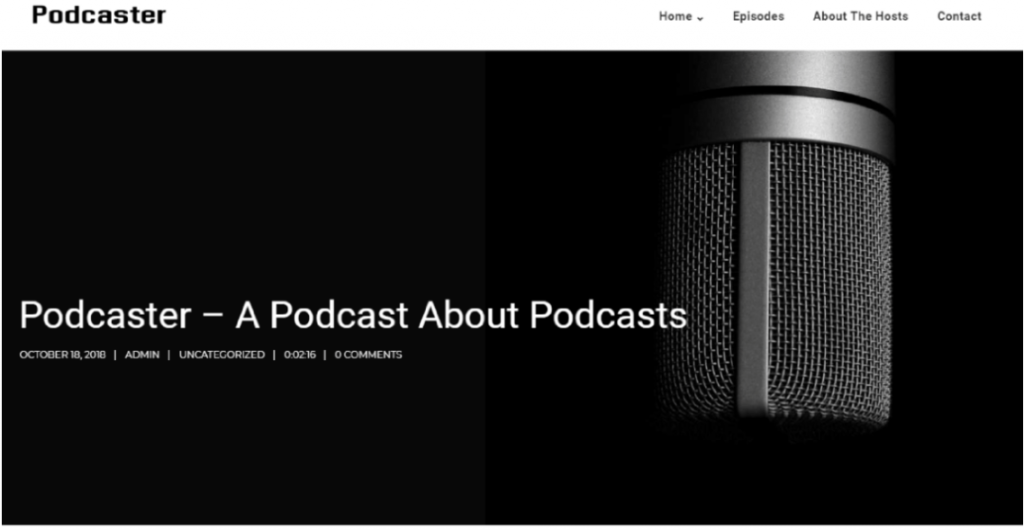 Podcaster example image